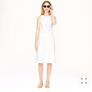 J. Crew collection triple eyelet dress